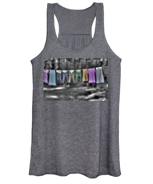 Painted Washline In Plymouth Nh Women's Tank Top