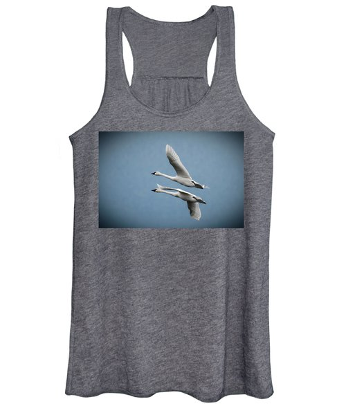 Pair Of Tundra Swan Women's Tank Top