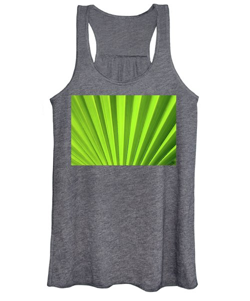 Palm Leaf Abstract Women's Tank Top