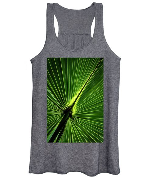 Palm Tree With Back-light Women's Tank Top