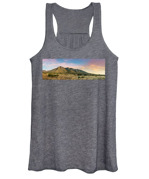 Panorama Of Hunter Peak And Frijole Ridge At Guadalupe Mountains National Park - West Texas Women's Tank Top
