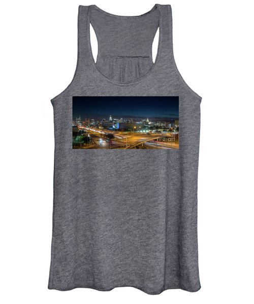 Panoramic View Of Busy Austin Texas Downtown Women's Tank Top