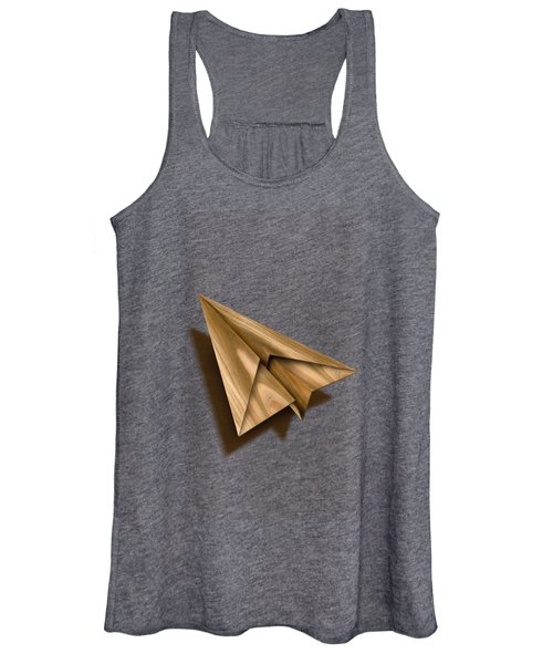 Paper Airplanes Of Wood 1 Women's Tank Top