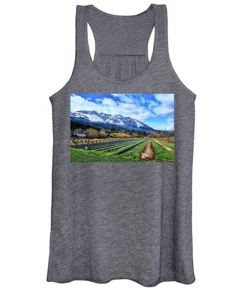 Landscape With Mountains And Farmlands In The Argentine Patagonia Women's Tank Top