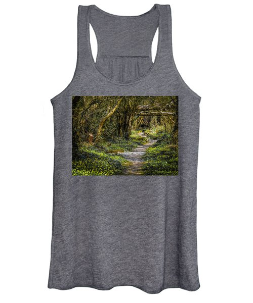 Women's Tank Top featuring the photograph Path Through Yeats' Fairy Forest by James Truett