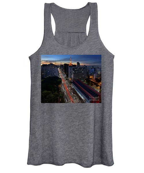 Paulista Avenue And Masp At Dusk - Sao Paulo - Brazil Women's Tank Top