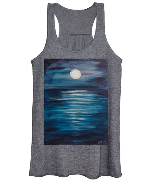 Peaceful Moon At Sea Women's Tank Top