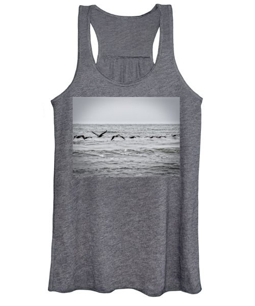 Pelican Black And White Women's Tank Top