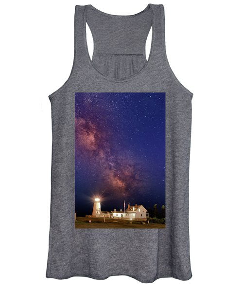 Pemaquid Point Lighthouse And The Milky Way Women's Tank Top