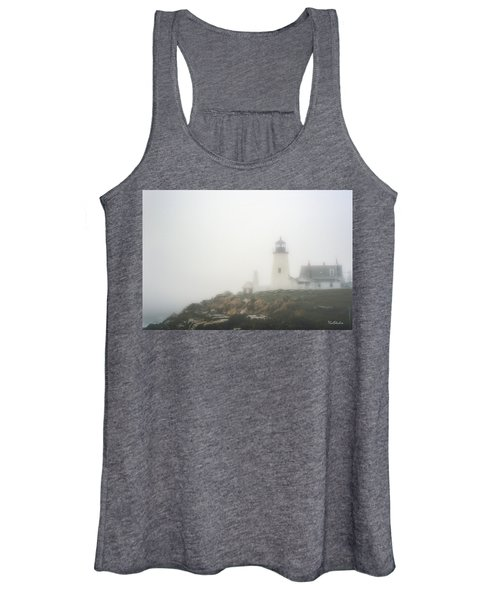 Pemaquid Point Lighthouse In Fog Women's Tank Top