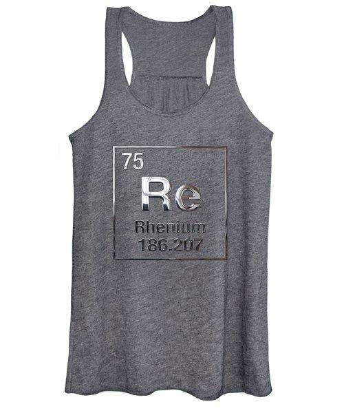 Periodic Table Of Elements - Rhenium Women's Tank Top