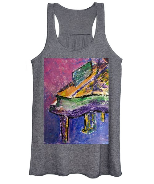 Piano Purple - Cropped Women's Tank Top