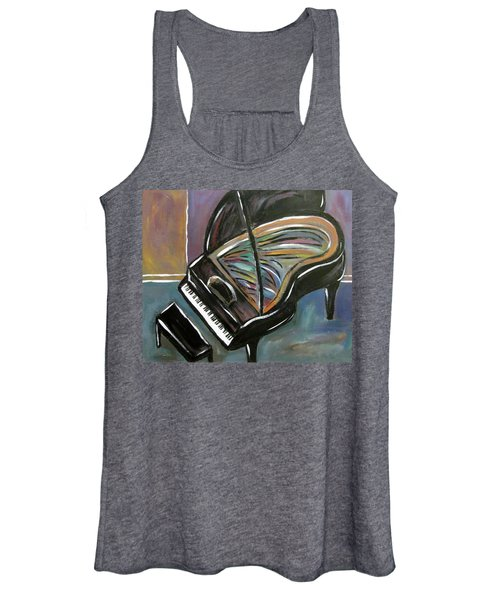 Piano With High Heel Women's Tank Top