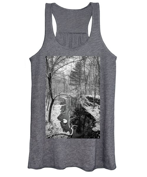 Pine Reflection On The Sheepscot Women's Tank Top