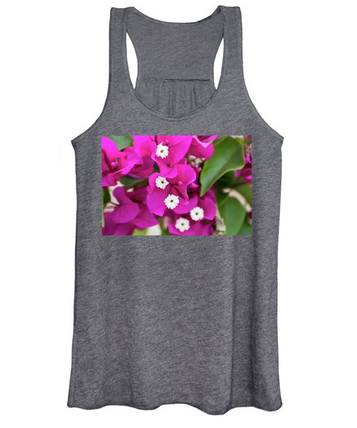 Pink And White Flowers Women's Tank Top