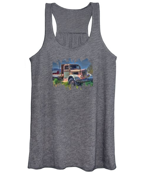 Classic Flatbed Truck In Pink Women's Tank Top