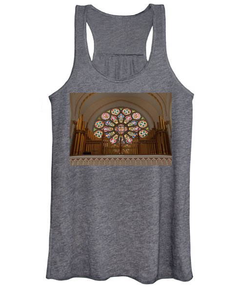 Pipe Organ - Church Women's Tank Top