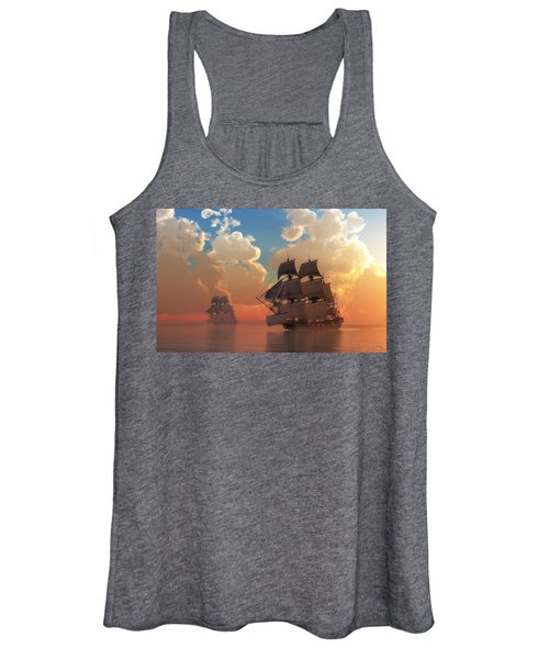 Pirate Sunset Women's Tank Top