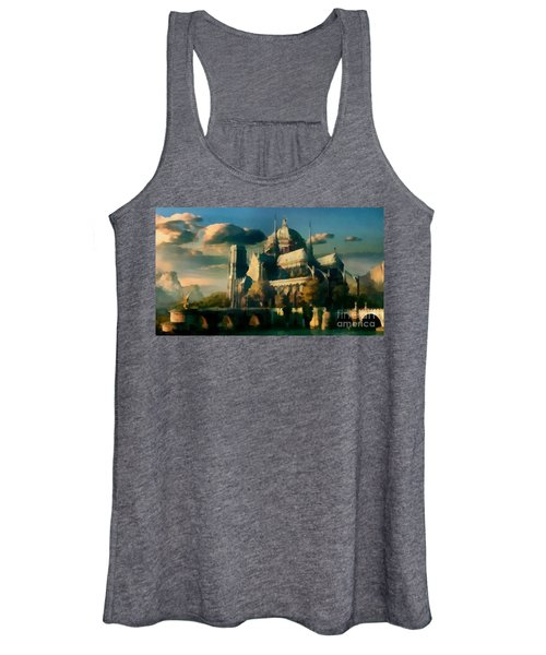 Places Angels Dwell Painted In Bleak Women's Tank Top