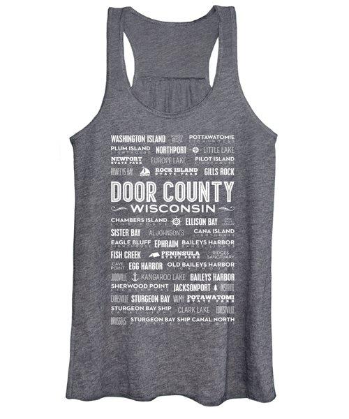 Places Of Door County On Gray Women's Tank Top