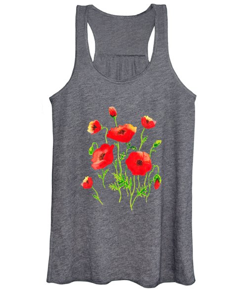 Playful Poppy Flowers Women's Tank Top