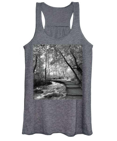 Plitvice In Black And White Women's Tank Top