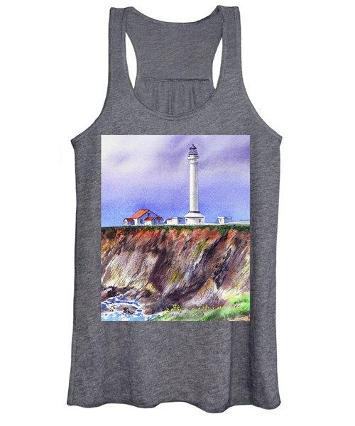 Point Arena Lighthouse California Shore Women's Tank Top