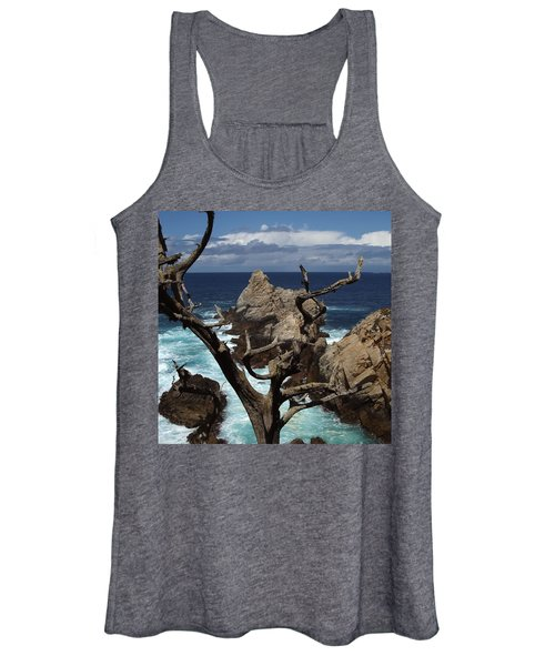 Point Lobos Rocks And Branches Women's Tank Top