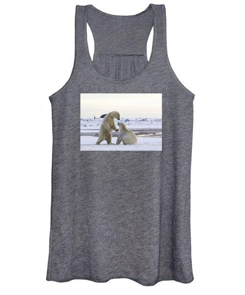Polar Bear Play-fighting Women's Tank Top