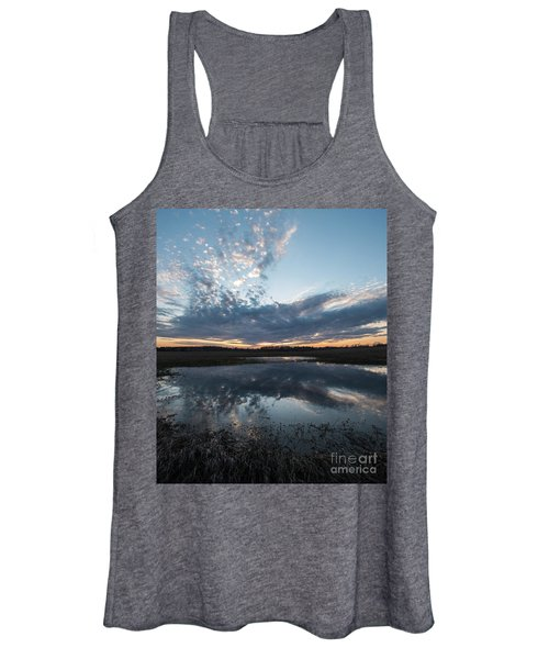 Pond And Sky Reflection3a Women's Tank Top