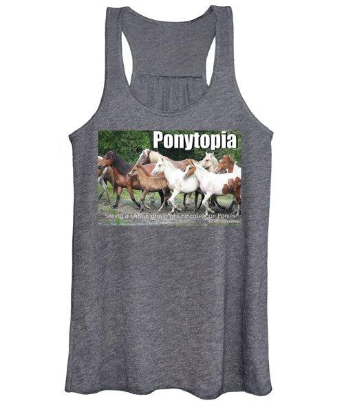 Ponytopia Saying Women's Tank Top