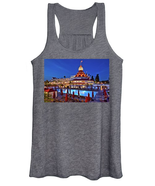Poolside At The Hotel Del Coronado  Women's Tank Top