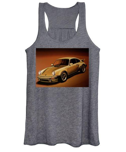 Porsche 911 Turbo 1976 Painting Women's Tank Top