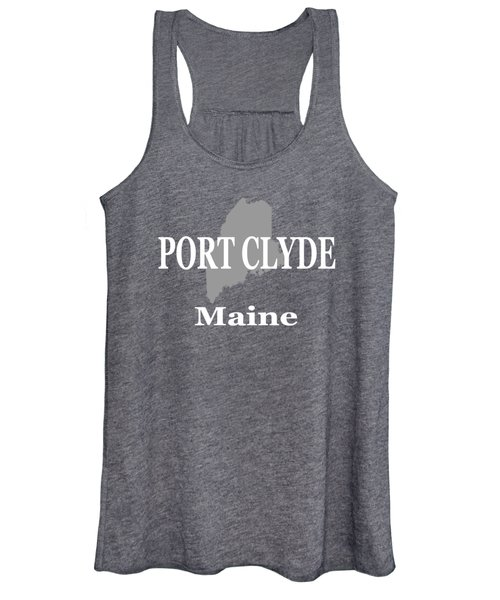 Port Clyde Maine State City And Town Pride  Women's Tank Top