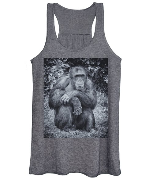 Portrait Of A Chimp Women's Tank Top