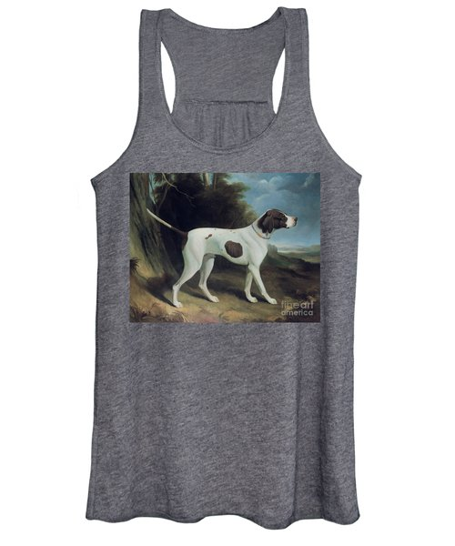 Portrait Of A Liver And White Pointer Women's Tank Top