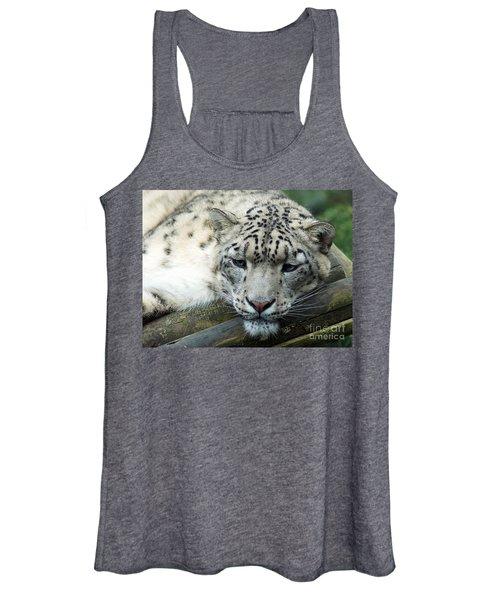 Portrait Of A Snow Leopard Women's Tank Top