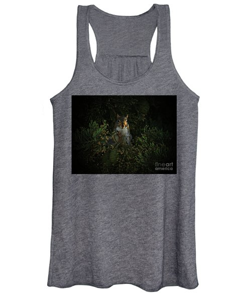 Portrait Of A Squirrel Women's Tank Top