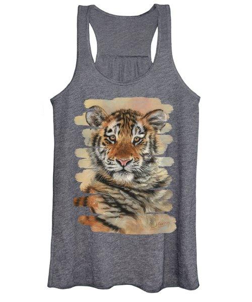 Portrait Of A Tiger Cub Women's Tank Top