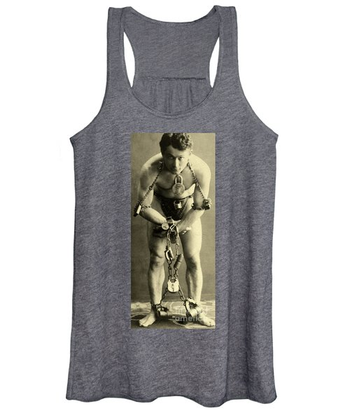 Portrait Of Harry Houdini In Chains, 1900 Women's Tank Top