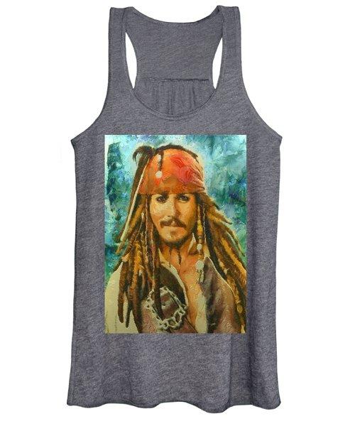 Portrait Of Johnny Depp Women's Tank Top