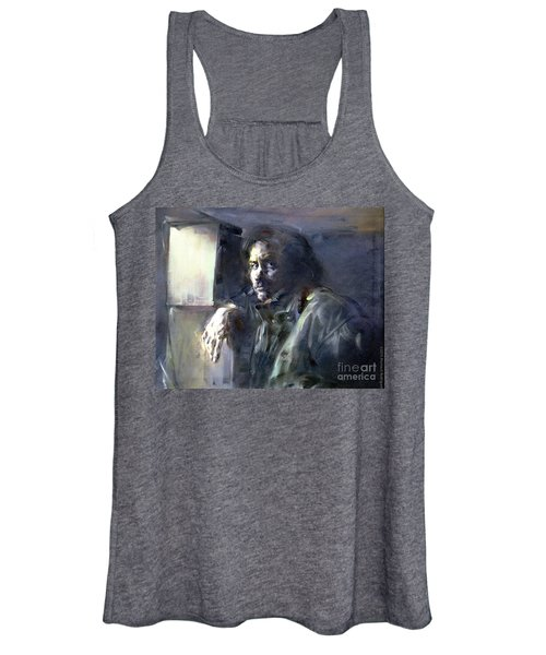 Portrait Of Kip Hanrahan - At The 11th Street Studio, Nyc - Women's Tank Top