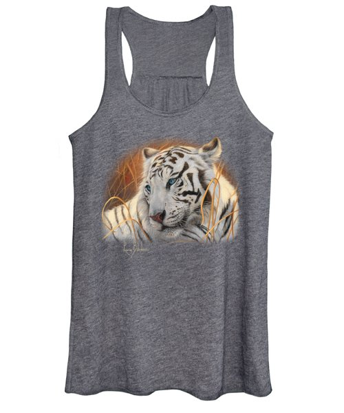 Portrait White Tiger 1 Women's Tank Top
