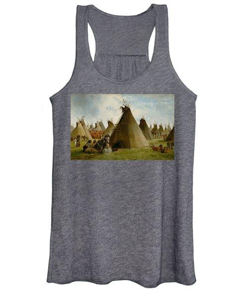 Prairie Indian Encampment Women's Tank Top