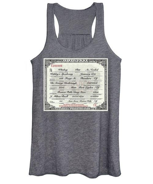 Prohibition Prescription Certificate Speakeasy Women's Tank Top