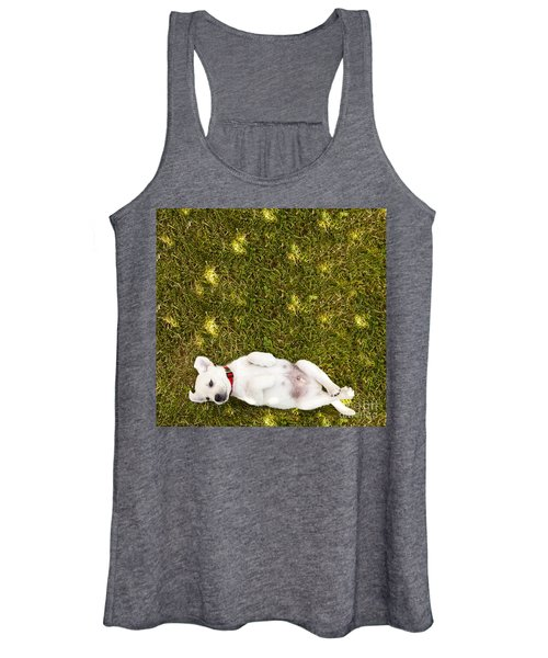 Puppy In The Grass Women's Tank Top
