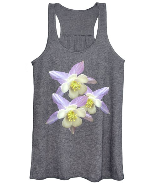 Purple Aquilegia Women's Tank Top