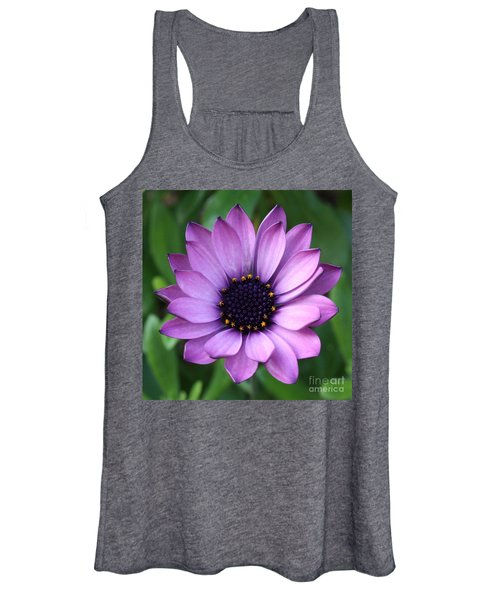 Purple Daisy Square Women's Tank Top