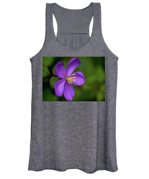 Purple Flower Macro Women's Tank Top