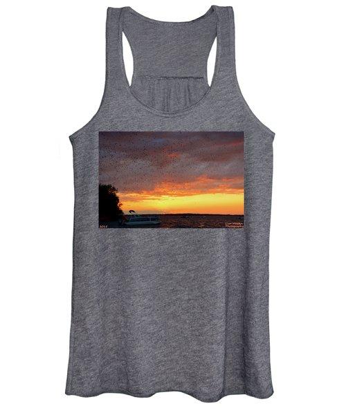 Purple Martin Sunset On Lake Murray Sc Women's Tank Top